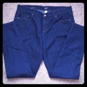 EUC- Loft modern skinny jeans